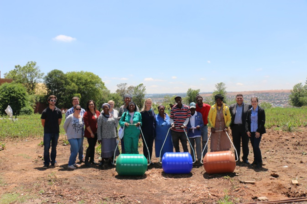 Community garden representatives receive Hippo Water Rollers
