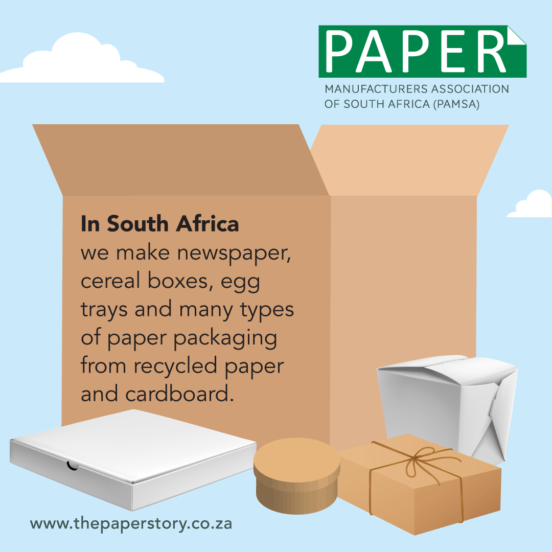 Recycled paper in South Africa Infographics