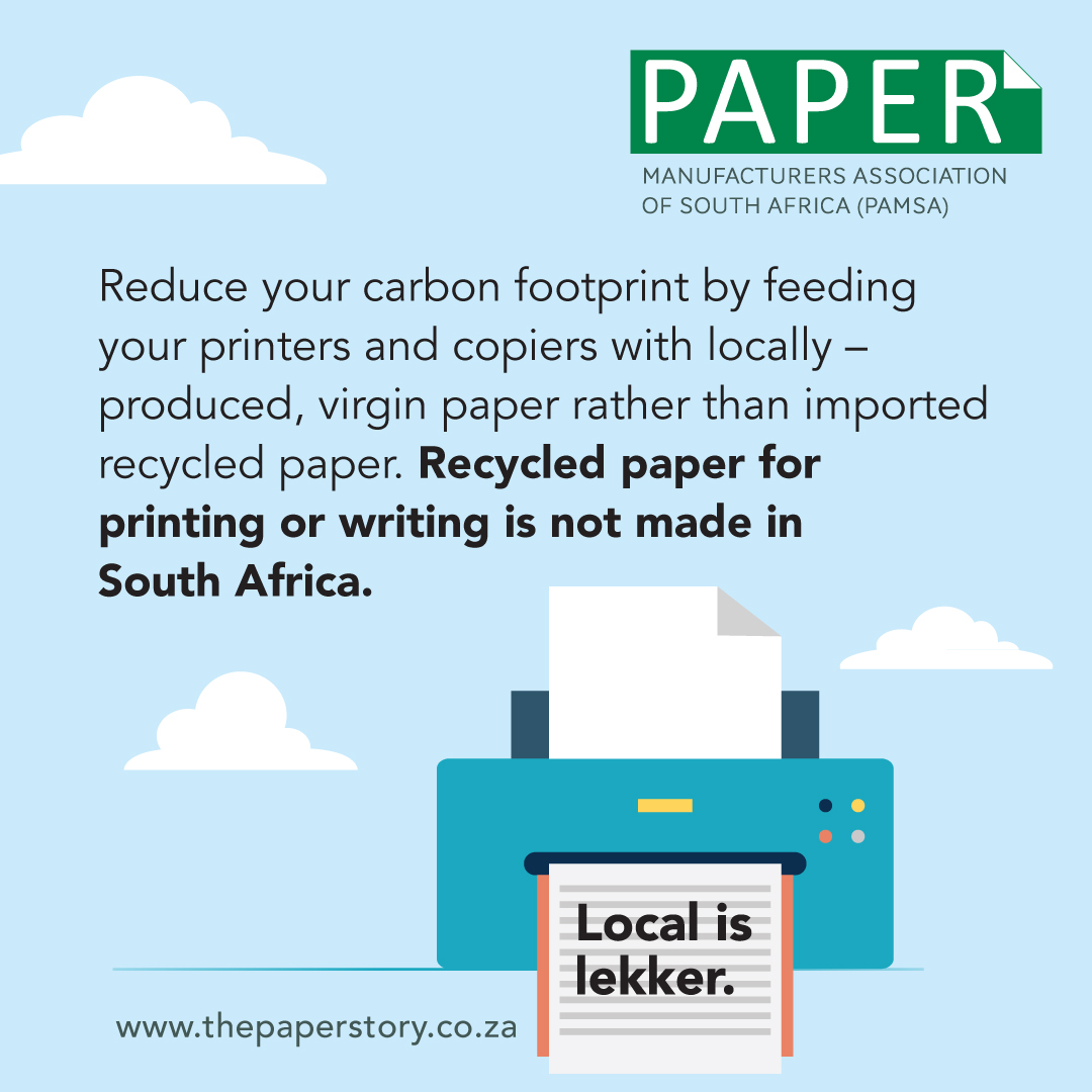 use local paper infographics with printer