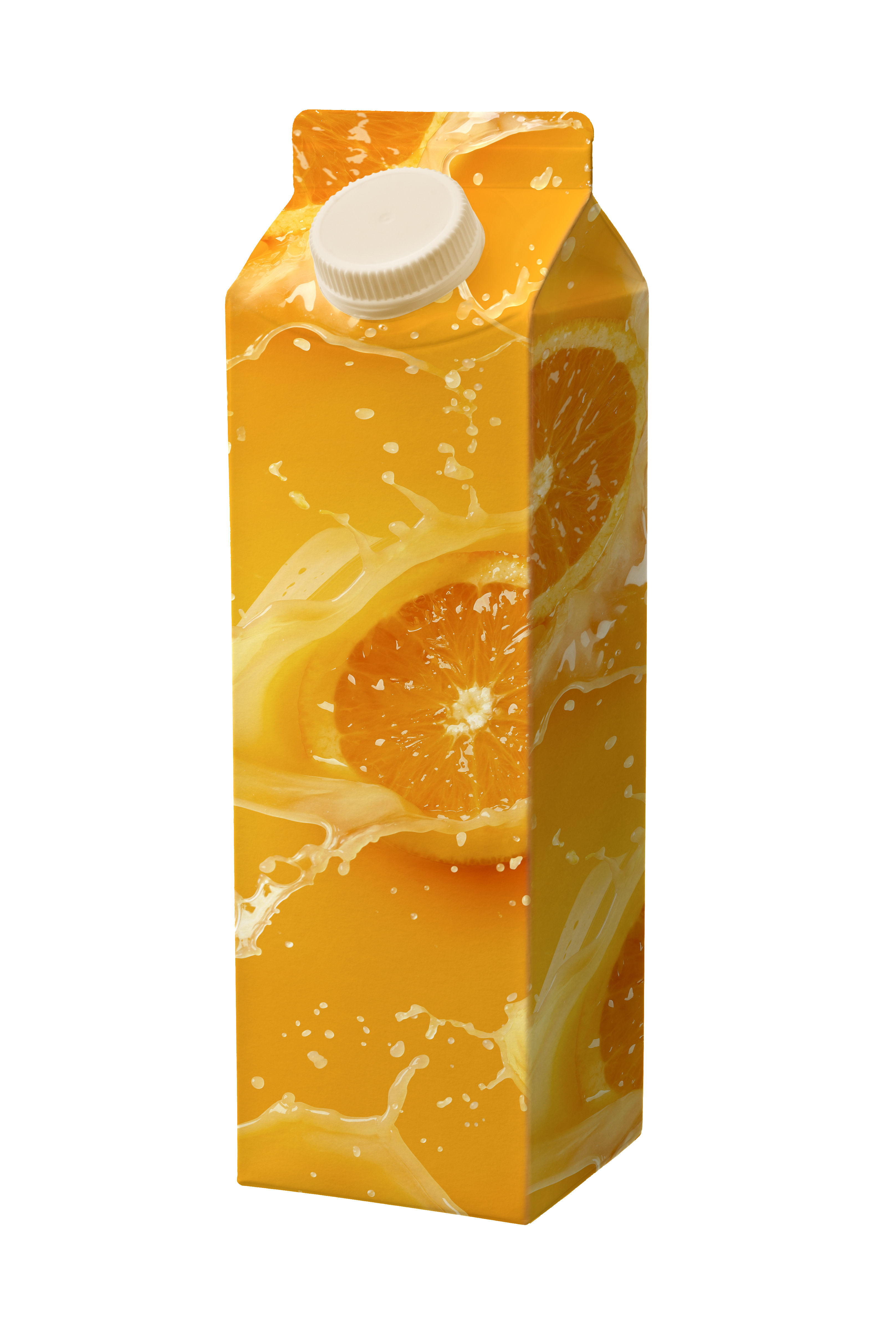 juice carton box isolated on white