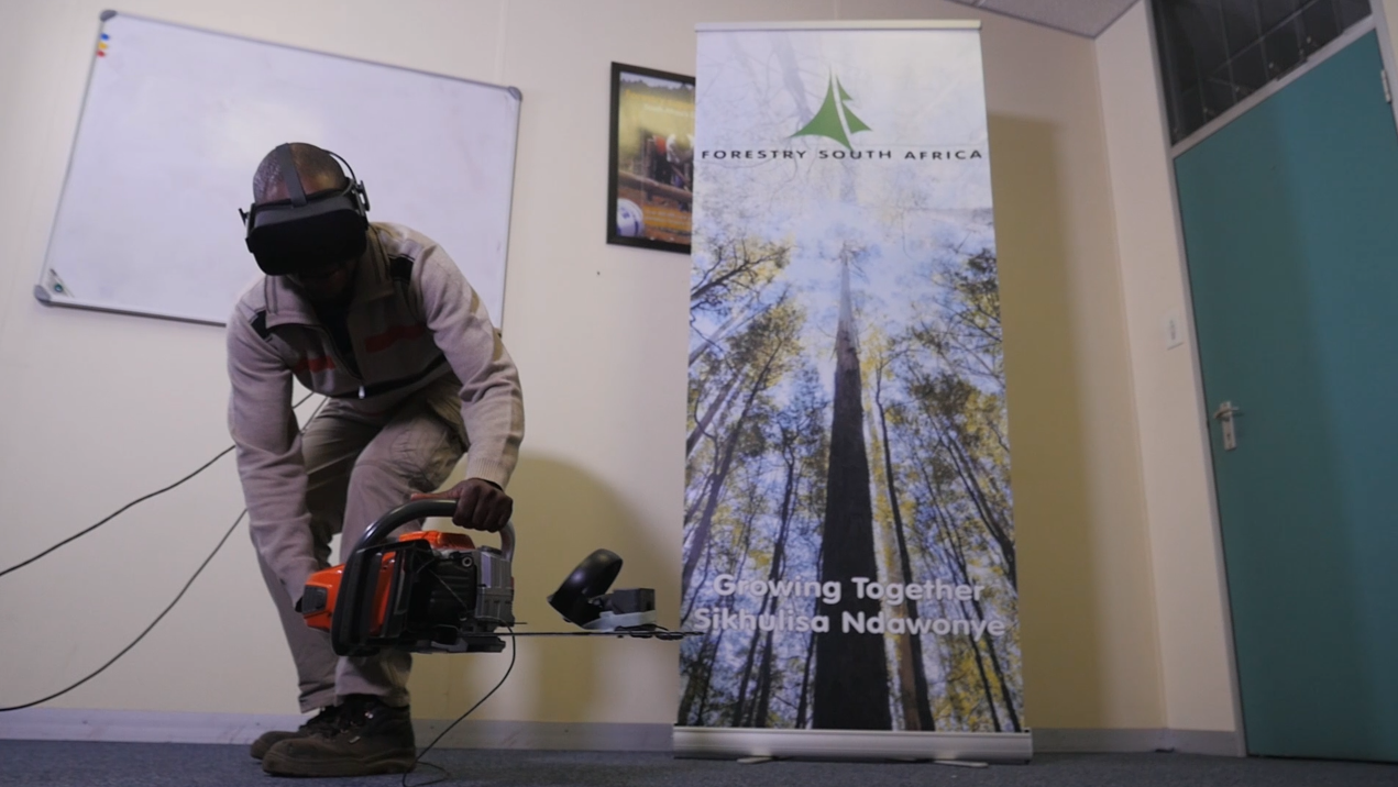 VR Application in use